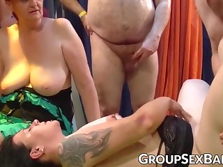 Mature sluts bizarre group sex