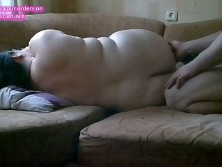BBW brunette houswife fucked hard on hidden cam