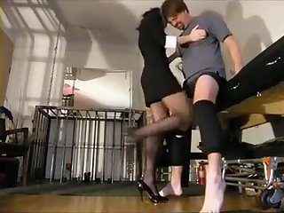 Two Hotties Are Luring Bends Kicking His Risible And Standing