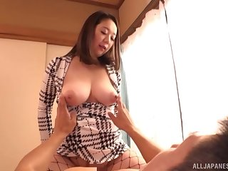 Clothed hard sex is what Nijikawa Sora loves with respect to than anything under other circumstances