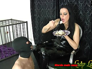 german bdsm domina and latex slaves