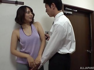 Threesome sex connected with amateur Japanese mature tie the knot Misaki Kanna