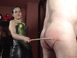 Patricia MedicalySado loves to spank her slaves until blood comes out