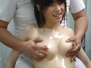 Young Japanese Babe Received A Tit Massage