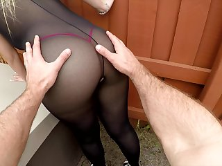 Curious lady in explicit jet lingerie Serena Skye gonna be poked doggy