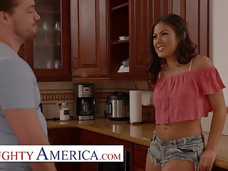 Naughty America - Kendra Spade flirts coupled with fucks their way neighbor