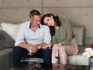 Erotic cherish making between and old dude and sexy Casey Calvert