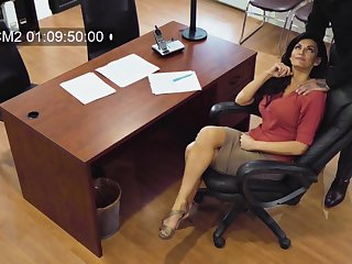 Erotic MILF bankroll b reverse films herself having sex with her married colleague