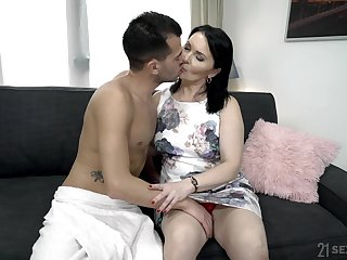 Emotional mature fat prostitute Ilsa gets hammered really rough by her lover