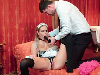 Chum around with annoy Irish colleen is more than pleased to suit her master's hidden sexual needs