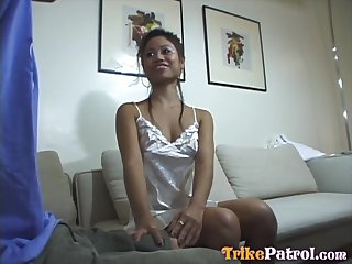 All nude Asian masseuse Rorie treats man with a pleasant blowjob