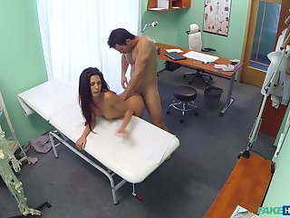 Hidden cam sex put paid to a muscular doctor and a hot patient