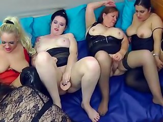Some awesome lesbian orgy featuring hideous big women