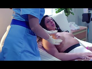 two lesbian nurses are licking added to pity fucking pussy of Whitney Wright