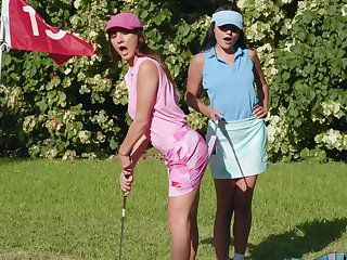 Prurient fantasy down readily obtainable the golf course for two top lesbians