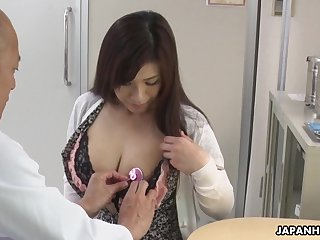 Hot Japanese babe needs some sexual salt and her tits are ergo huge