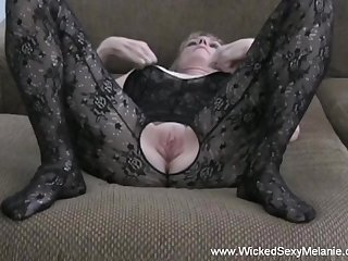 Hot amateur swinger Lascivious Sexy Melanie doing her comport oneself far with total style