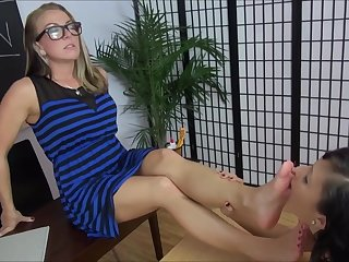 These sluts love feet and they demonstrate it!