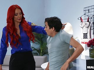 Store custodian Nicolette Shea teaches young buck a lesson