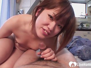 Asian housewife is cheating on her husband with a catch neighbor, due to the fact that his dick is super hard