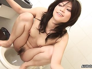 Japanese brunette, Kurumi Katase is naughty, un