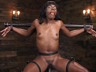 Rout torture innings with ebony female slave Ana Foxxx. HD
