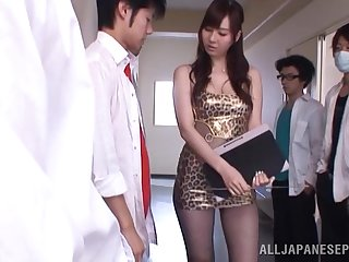 Natural pair Asian newborn Yui Tatsumi gets fucked by lot of guys