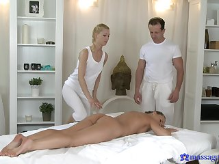 Massage leads itchy woman to wanna fuck firm