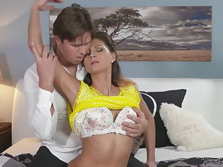 Desirable housewife starkers increased by fucked by her horny hubby
