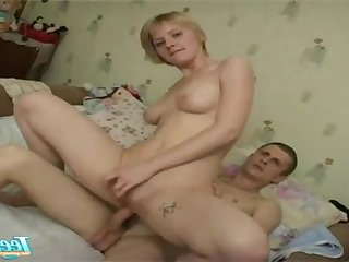 Blonde euro old lady nailed nailed hard wits son friend - amateur hardcore