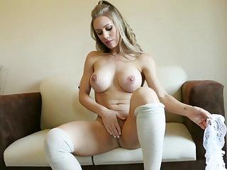 Big tits, Blonde, Stockings,