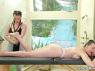 Castle in the air MASSAGE Wife Cheats w Sexy Masseuse PAWG