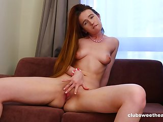 Skinny solo woman with small boobs enjoys fingering say no to fuck hole
